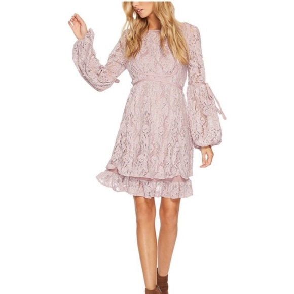 Free People Dresses & Skirts - Free People Ruby Mini Dress in Mauve